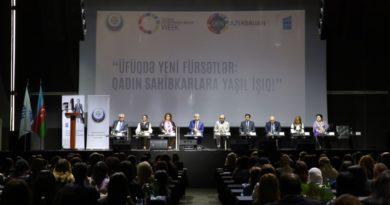 """""""Üfüqdə yeni fürsətlər: qadın sahibkarlar üçün yaşıl işıq"""" mövzusunda konfrans keçirilib"""