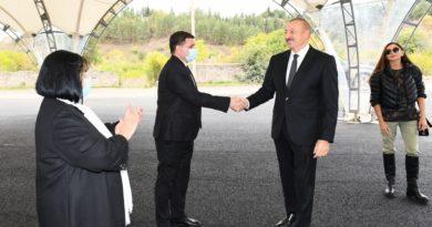Prezident İlham Əliyev və birinci xanım Mehriban Əliyeva Zəngilan ictimaiyyətinin nümayəndələri ilə görüşüblər